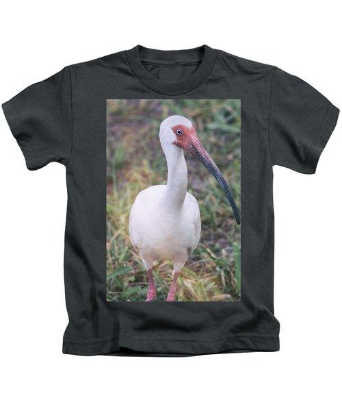White Ibis In The Morning Light  Kids T-Shirt by Saija  Lehtonen