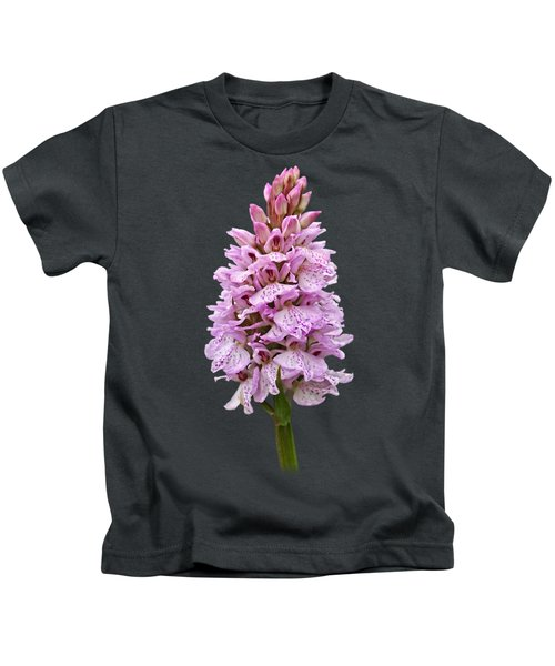 Wild Pink Spotted Orchid Kids T-Shirt by Gill Billington