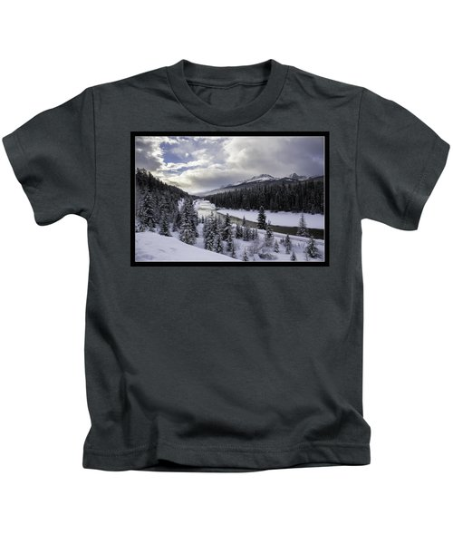Winter In The Rockies Kids T-Shirt by J and j Imagery