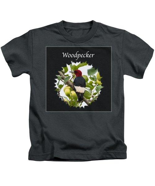 Woodpecker Kids T-Shirt by Jan M Holden