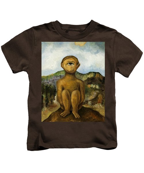 Cyclops Kids T-Shirt by Leah Saulnier The Painting Maniac