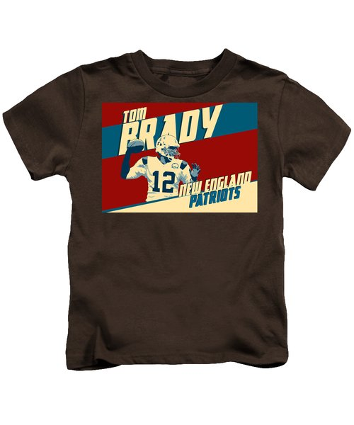 Tom Brady Kids T-Shirt by Taylan Apukovska