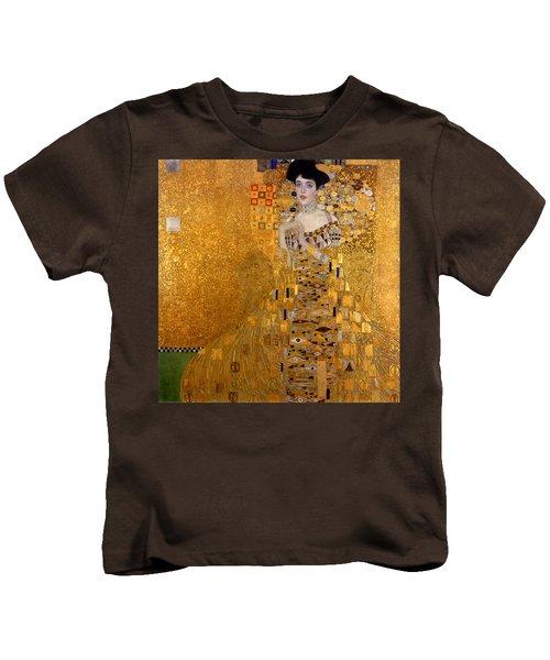 Adele Bloch Bauers Portrait Kids T-Shirt by Gustive Klimt