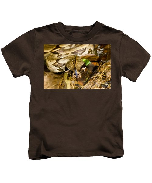 Boa Constrictor Kids T-Shirt by Gregory G. Dimijian, M.D.