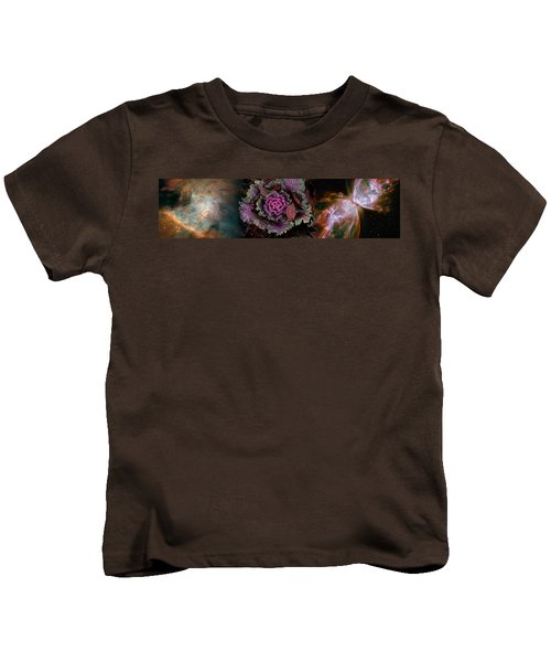 Cabbage With Butterfly Nebula Kids T-Shirt by Panoramic Images