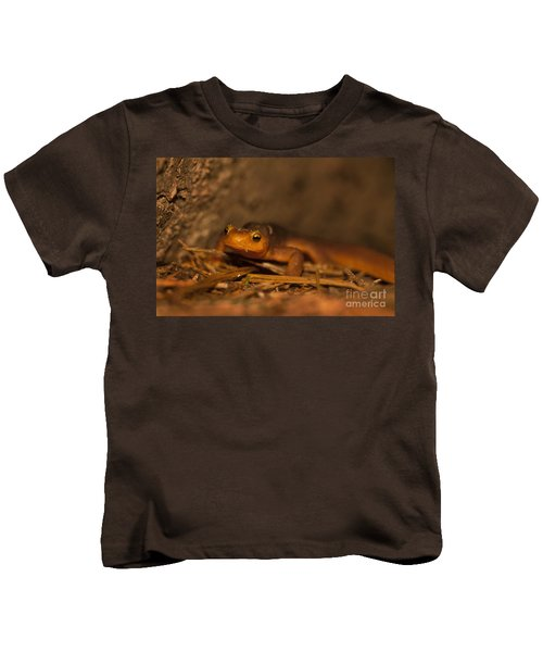 California Newt Kids T-Shirt by Ron Sanford