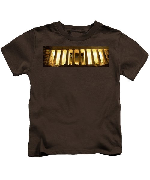Columns Surrounding A Memorial, Lincoln Kids T-Shirt by Panoramic Images