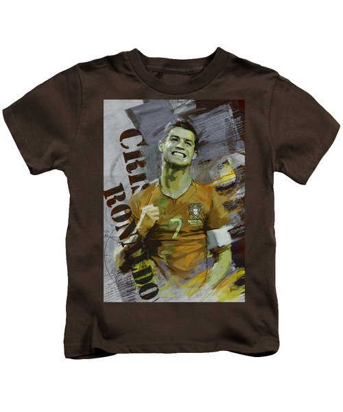 Cristiano Ronaldo Kids T-Shirt by Corporate Art Task Force