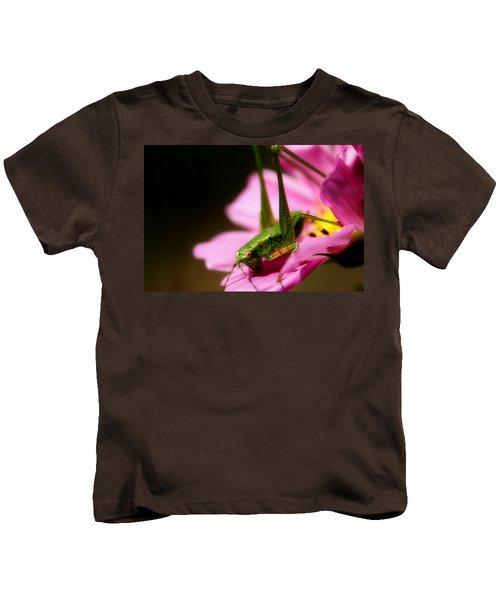 Flower Hopper Kids T-Shirt by Michael Eingle