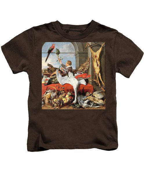 Interior Of An Office, Or Still Life With Game, Poultry And Fruit, C.1635 Oil On Canvas Kids T-Shirt by Frans Snyders or Snijders