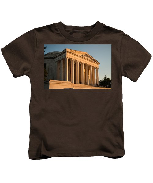 Jefferson Memorial Sunset Kids T-Shirt by Steve Gadomski