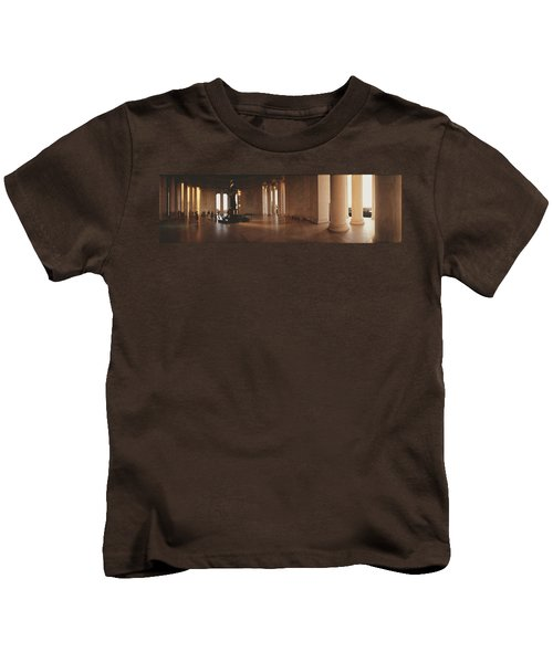 Jefferson Memorial Washington Dc Usa Kids T-Shirt by Panoramic Images