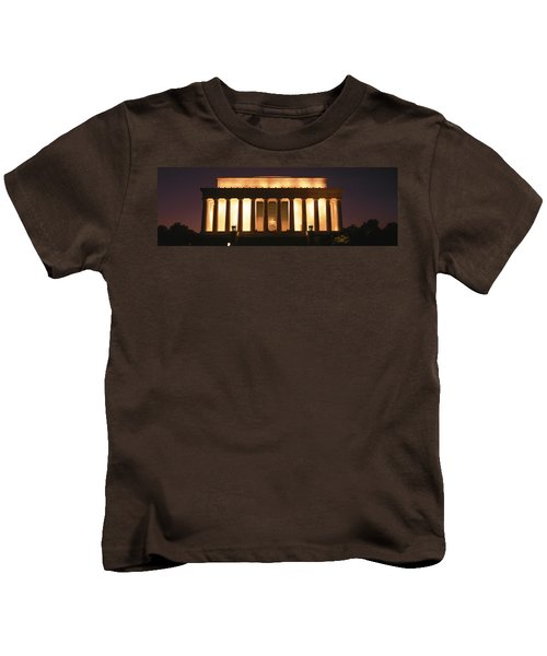 Lincoln Memorial Washington Dc Usa Kids T-Shirt by Panoramic Images
