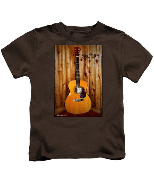 Martin Guitar - The Eric Clapton Limited Edition Kids T-Shirt by Bill Cannon