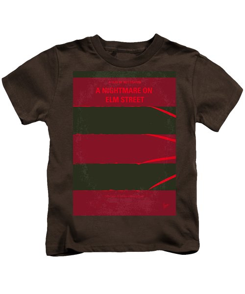 No265 My Nightmare On Elmstreet Minimal Movie Poster Kids T-Shirt by Chungkong Art