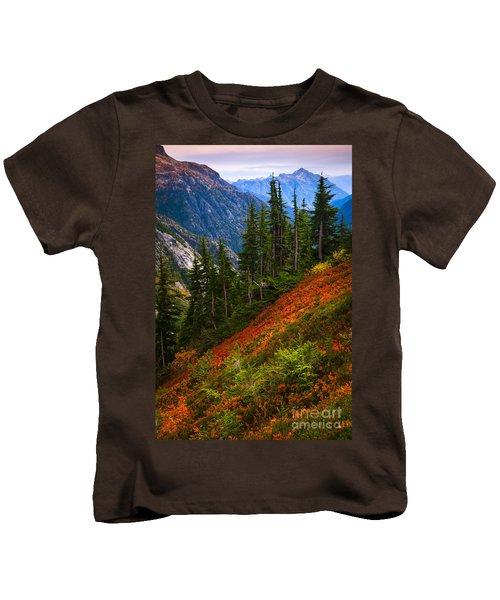 Sahale Arm Kids T-Shirt by Inge Johnsson