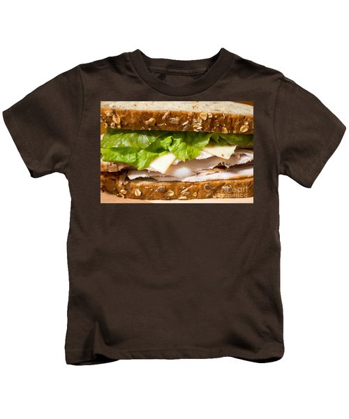 Smoked Turkey Sandwich Kids T-Shirt by Edward Fielding