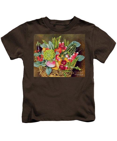 Summer Vegetables Kids T-Shirt by EB Watts
