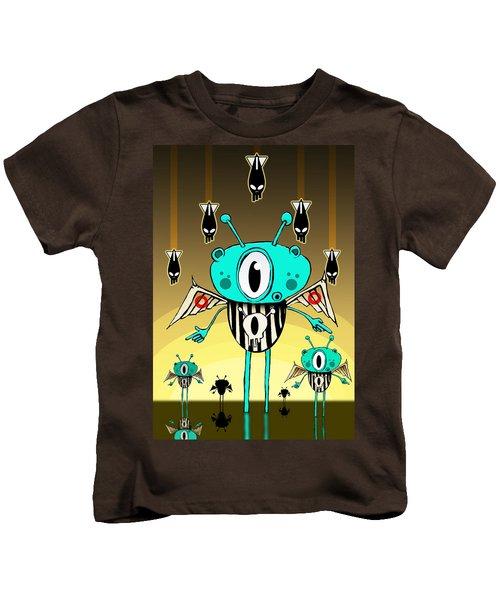 Team Alien Kids T-Shirt by Johan Lilja