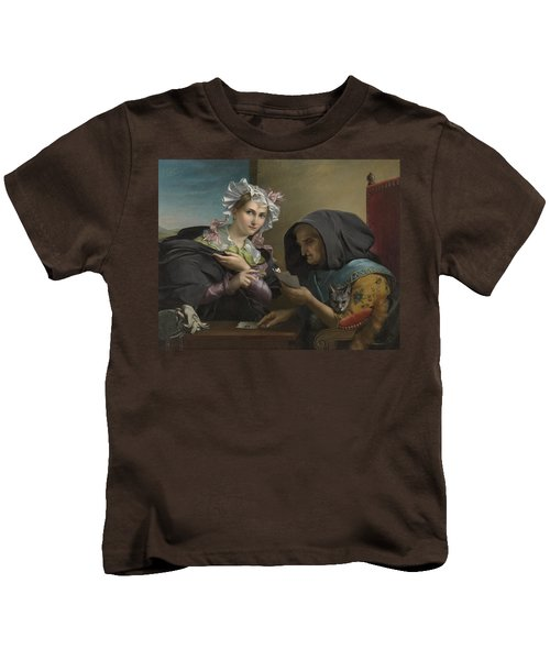 The Fortune Teller Kids T-Shirt by Adele Kindt