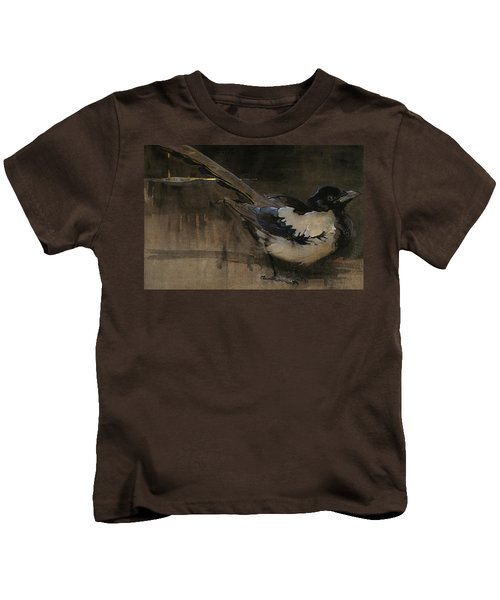 The Magpie Kids T-Shirt by Joseph Crawhall