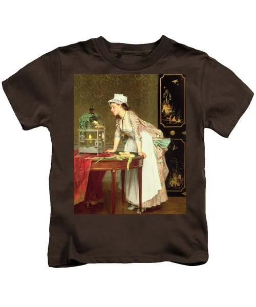 The Yellow Canaries Kids T-Shirt by Joseph Caraud