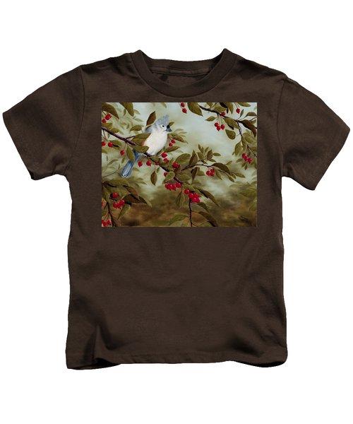 Tufted Titmouse Kids T-Shirt by Rick Bainbridge