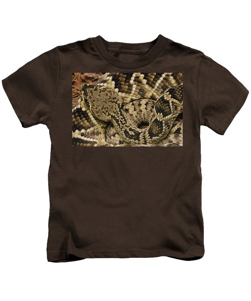 Eastern Diamondback Rattlesnake Kids T-Shirt by Gerry Ellis