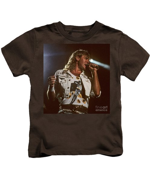 Joe Elliot Kids T-Shirt by David Plastik