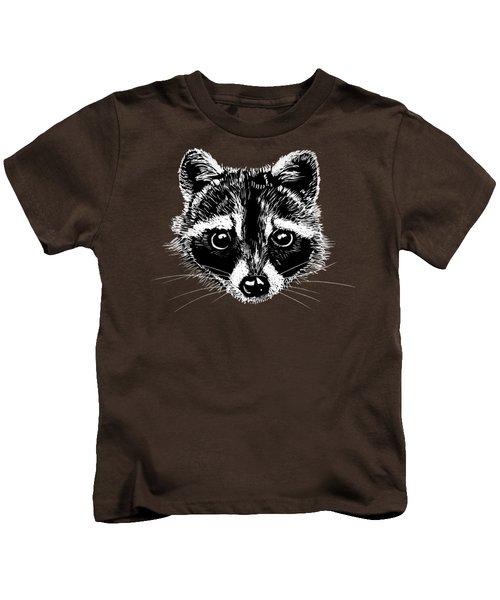 Raccoon Kids T-Shirt by Masha Batkova