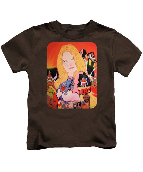 80s Girl 5  Kids T-Shirt by Jason Wright