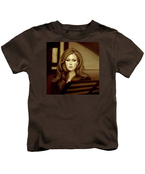 Adele Gold Kids T-Shirt by Paul Meijering