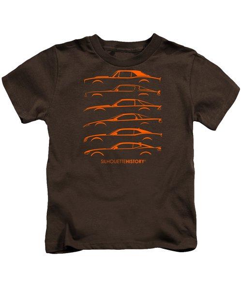 American Pony Silhouettehistory Kids T-Shirt by Gabor Vida
