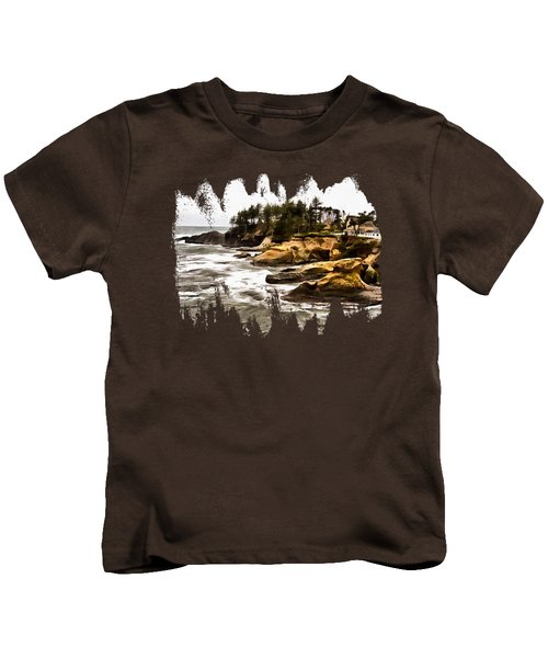 Arch Rock Depoe Bay Kids T-Shirt by Thom Zehrfeld