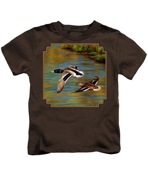 Golden Pond Kids T-Shirt by Crista Forest