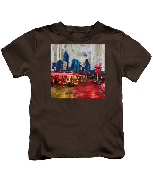 Atlanta Skyline 231 1 Kids T-Shirt by Mawra Tahreem