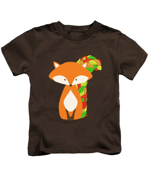 Autumn Fox Kids T-Shirt by Brigitte Carre