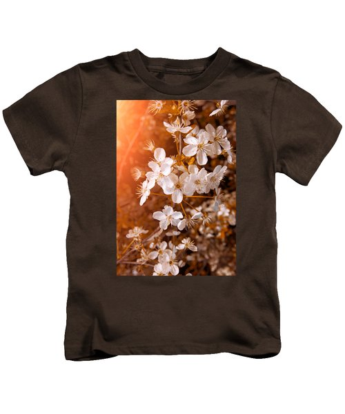 Blossoming Garden Kids T-Shirt by Konstantin Sevostyanov
