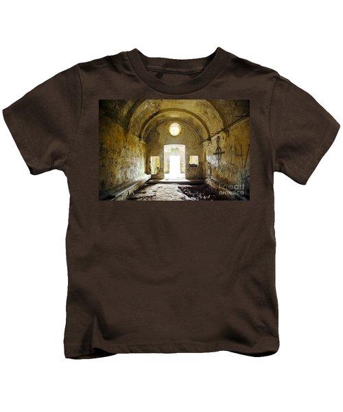Church Ruin Kids T-Shirt by Carlos Caetano
