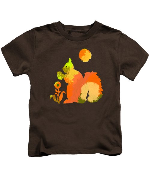 Colorful Squirrel 2 Kids T-Shirt by Holly McGee