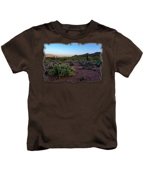 Desert Foothills H29 Kids T-Shirt by Mark Myhaver