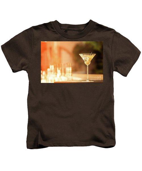 Evening With Martini Kids T-Shirt by Ekaterina Molchanova