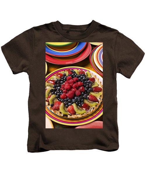 Fruit Tart Pie Kids T-Shirt by Garry Gay
