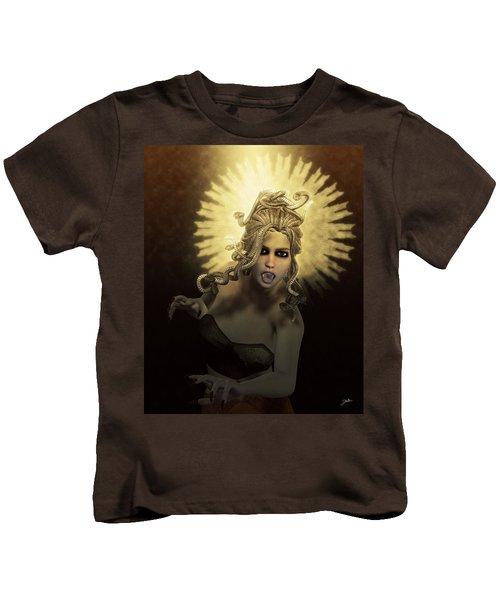 Gorgon Medusa Kids T-Shirt by Joaquin Abella