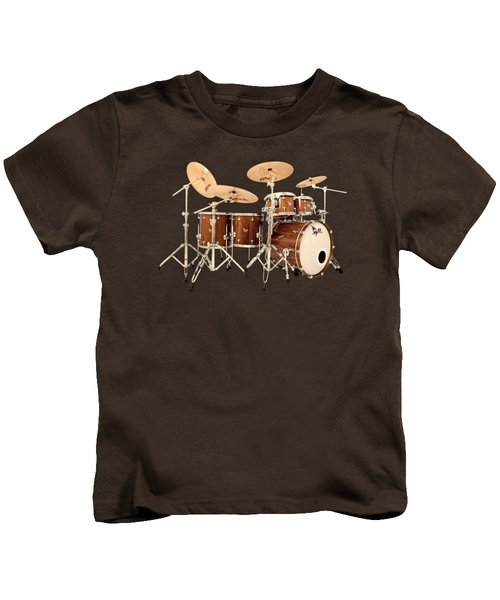 Hendrix  Drums Kids T-Shirt by Shavit Mason