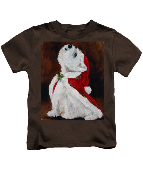 Joy To The World Kids T-Shirt by Mary Sparrow