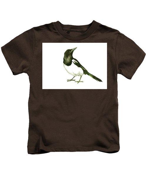 Magpie Kids T-Shirt by Suren Nersisyan