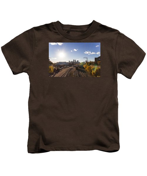 Minneapolis In The Fall Kids T-Shirt by Zach Sumners