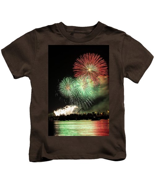 Montreal-fireworks Kids T-Shirt by Mircea Costina Photography