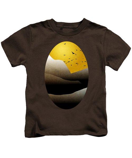 Mountain Sunrise Landscape Art Kids T-Shirt by Christina Rollo